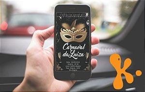 Convite digital personalizado Carnaval 1