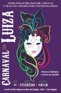 Convite digital personalizado Carnaval 6