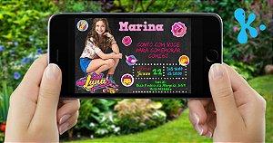 Convite digital personalizado Soy Luna 006