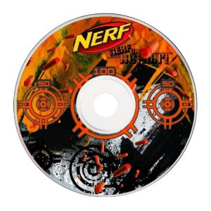 Rótulo adesivo CD/DVD NERF