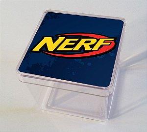 Adesivo caixinha acrílica 5x5cm NERF