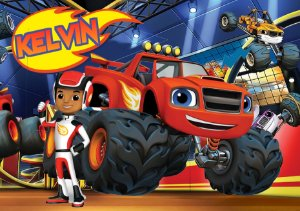 Painel TNT Blaze and the Monster Machines