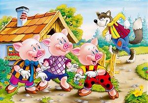 Painel TNT Os Três Porquinhos