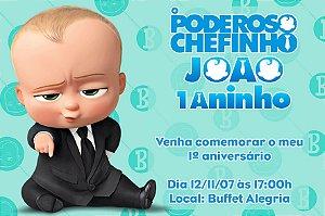 Convite digital personalizado Poderoso Chefinho 003