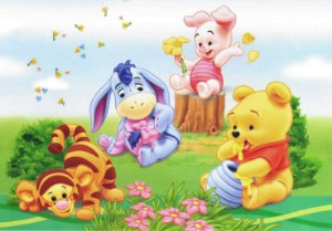 Painel TNT Baby Pooh