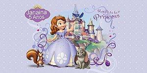 Adesivo para cofrinho personalizado Princesa Sofia