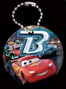 Tag com Correntinha 5 x 5 cm Carros da Disney