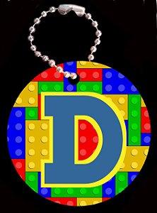 Tag com Correntinha 5 x 5 cm Lego