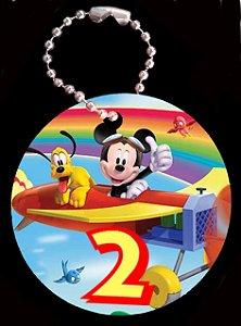 Tag com Correntinha 5 x 5 cm Mickey 1