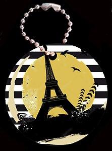 Tag com Correntinha 5 x 5 cm Paris