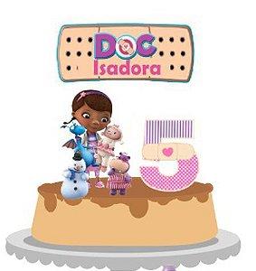 Topo de Bolo Personalizado Doutora Brinquedos
