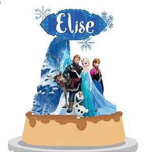 Topo de Bolo Personalizado Frozen