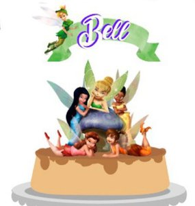 Topo de Bolo Personalizado Tinker Bell