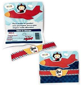 Convite Cartão com recorte Aviador