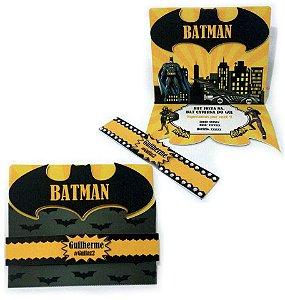 Convite Cartão com recorte Batman