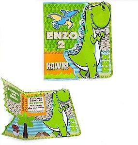 Convite Cartão com recorte Dinossauro