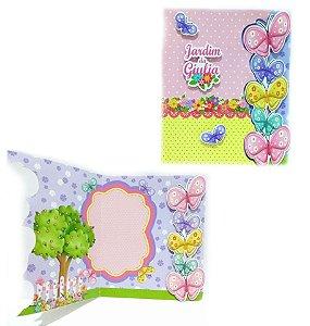 Convite Cartão com recorte Jardim das borboletas