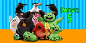 Adesivo para cofrinho personalizado Angry Birds