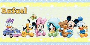 Adesivo para cofrinho personalizado Baby Disney