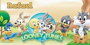 Adesivo para cofrinho personalizado Baby Looney Tunes