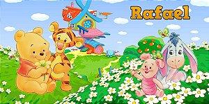 Adesivo para cofrinho personalizado Baby Pooh