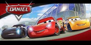 Adesivo para cofrinho personalizado Carros da Disney