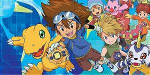 Adesivo para cofrinho personalizado Digimons