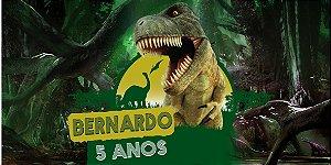 Adesivo para cofrinho personalizado Dinossauros