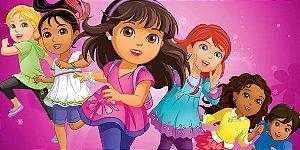 Adesivo para cofrinho personalizado Dora e Seus Amigos na Cidade