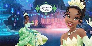 Adesivo para cofrinho personalizado Princesa Tiana