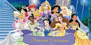 Adesivo para cofrinho personalizado Princesas Disney