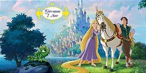 Adesivo para cofrinho personalizado Rapunzel