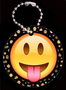 Tag com Correntinha 5 x 5 cm Emoji