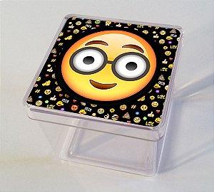 Adesivo caixinha acrílica 5x5cm Emoji