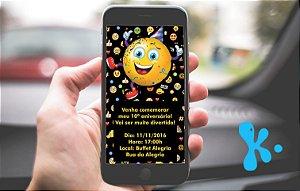 Convite personalizado para WhatsApp Emoji