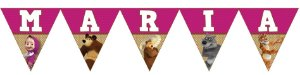 Bandeirinha Personalizada Masha