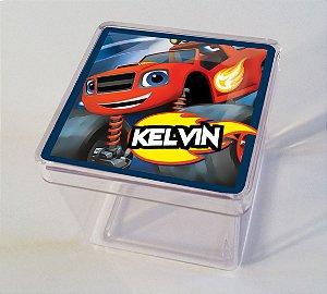 Adesivo caixinha acrílica 5x5cm Blaze and the Monster Machine