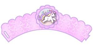 Pacote com 6 Wrappers personalizados Unicornio