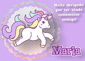 Cartão de Agradecimento Unicornio