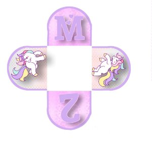Caixeta para Doces personalizada Unicornio