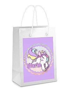 Adesivo para sacolinha perdonalizado Unicornio