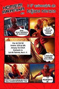 Convite digital personalizado Homem Aranha 018