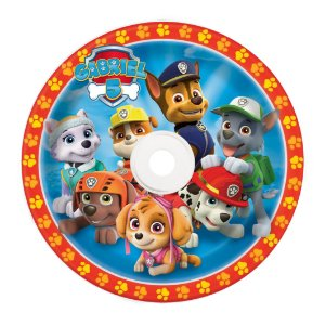 Rótulo adesivo CD/DVD Patrulha Canina