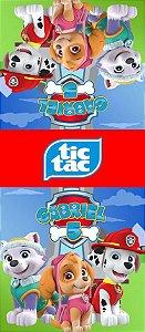 Adesivo personalizado para TicTac Patrulha Canina