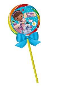 Adesivo personalizado para pirulito Doutora Brinquedos