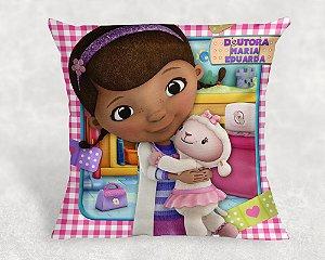 Almofada Personalizada para Festa Doutora Brinquedos
