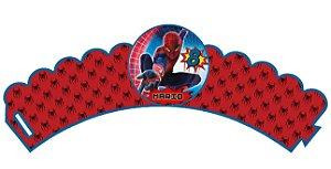 Pacote com 6 Wrappers personalizados Homem Aranha