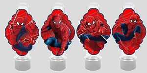 Embalagem com 8 apliques para Tubete Homem Aranha