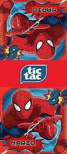 Adesivo personalizado para TicTac Homem Aranha
