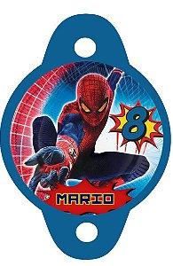Tag para canudinho Homem Aranha